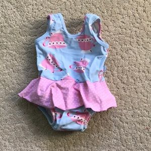 Baby Girl Swimsuit with built-in diaper 12 Months